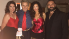 On set of FAKE NEWS, Sofia Milos as undercover detective Jennifer Stern, Torri Higginson as editor Liz Sterling, Martin Kove as vice President John Philips, Secret service Albright is Hovhannes Babakante