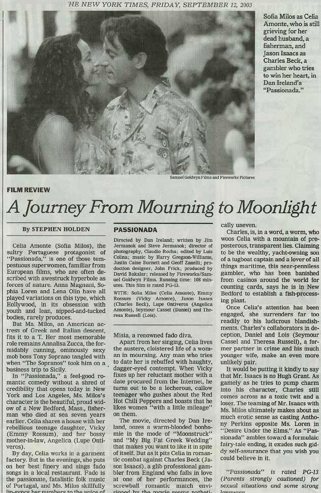 Passionada The New York Times