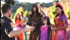 Sofia and cast, filming The Secret of Joy