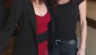 Sofia Milos as detective Jennifer Stern and Torri Higginson (Stargate:Atlantis) as Editor Liz Sterling, behind the scenes on the set of Fake News