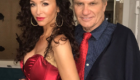 Sofia Milos, as detective Jennifer Stern undercover and Martin Kove (The Karate Kid, Rambo and many more) as Vice President John Phillips, on set behind the scenes of their film noir FAKE NEWS