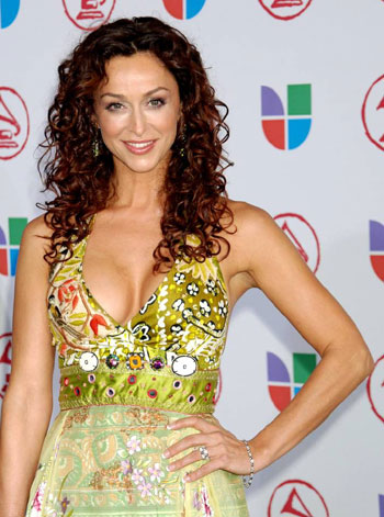 As a presenter at the Latin Grammys, November 2005, in Mehgan