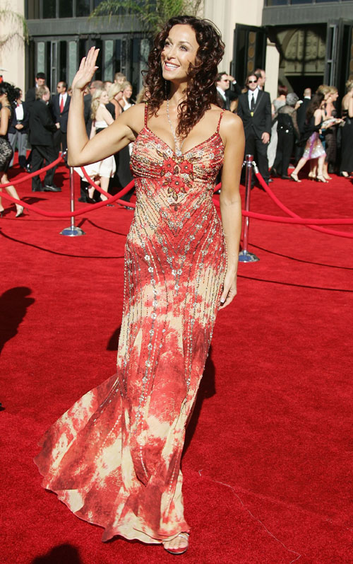 EMMYs 2006 Los Angeles, wearing SUE WONG and RAFINITY jewelery